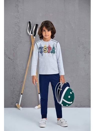 U.S. Polo Assn. Erkek Çocuk Pijama Takımı Gri